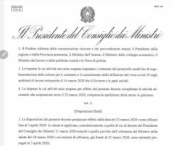 Il Presidente Conte firma il decreto e ferma l'Italia. Quasi tutta ...