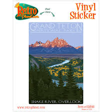 Grand Teton Snake River Overlook Vinyl Sticker At Retro Planet