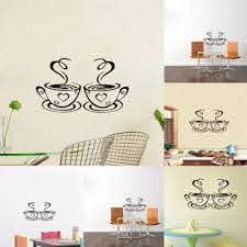 Kitchen Home Coffee Cups Cafe Tea Vinyl Decal Restaurant Diy Removable Decor House Decals Vinyl Wall Sticker Wall Stickers Aliexpress