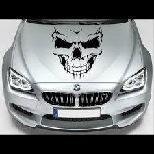 Evil Skull Bonnet Car Decal Sticker Tattoo Film Jdm Oem Ebay
