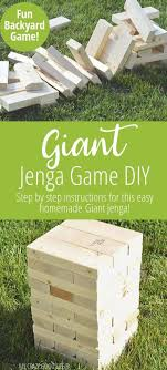 giant jenga game giant jenga diy