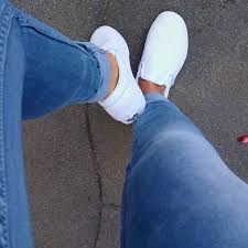 perf leather slip on classic