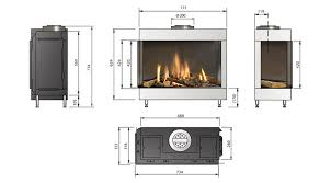 medium 2 sided corner gas fires specs