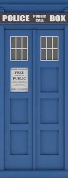 Police Public Call Box Telephone Bedroom Closet Door Vinyl Wall Decal