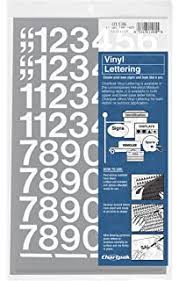 Amazon Com Duro Decal Permanent Adhesive Vinyl Letters Numbers 1 Gothic White Home Kitchen