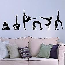15 75 H X 47 25 W Easma Girls Gymnastics Wall Sticker Sport Vinyl Art Wall Decals Art Kids Room Home Wall Decor Set Of 6 Wall Stickers Murals