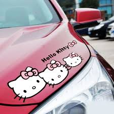 Hello Kitty Pink Bow Car Wing Mirror Window Sticker Car Body Decals Archives Midweek Com