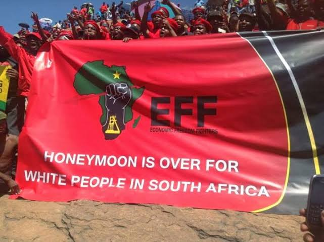 Image result for malema hate speech banner""