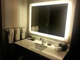 nice backlit bathroom mirror style top