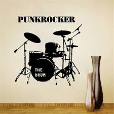 Lanue Punkrocker Musical Instruments Pattern Removable Wall Stickers Decals For Kids Room Wall Home Wall Decor Stickers Music Wall Stickers Wall Stickers Home