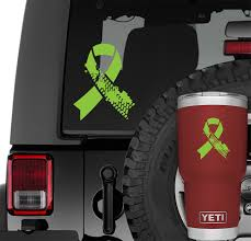 Jeep Muddy Tire Track Support Ribbon Vinyl Decal Jeep Wrangler Window Vinyl Decals