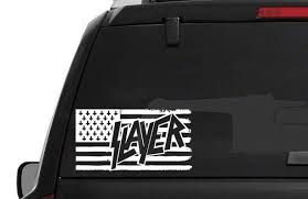 Slayer American Flag Decal Window Sticker Thrash Metal 2 Sizes 13 Colors American Flag Decal Flag Decal Window Stickers