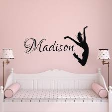Dance Name Wall Decal Dancer Wall Decal Personalized Name Etsy Dance Wall Decal Name Wall Decals Name Wall Stickers