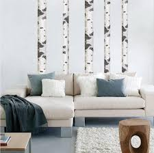 Birch Tree Wall Decal Forest Wallpaper Decor Removable Woods Wall Art American Wall Designs