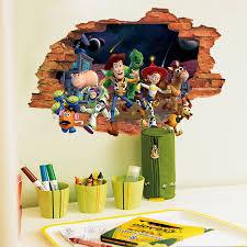Toy Story 3 3d Broken Wall Decor Nursery Kids Decal Stickers Woody Buzz Bullseye Ebay