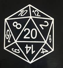 Amazon Com Popculturesigns 20 Sided Die Vinyl Decal 2 Qty D20 D D Rpg Gaming 4 Inch Car Laptop White Automotive