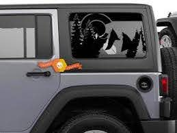 Side Window Decals On Jeep Wrangler Toyota Tacoma Tundra Dodge Charger Challenger