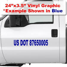 Usdot Number Sticker For Trucks Fully Compliant With Dot