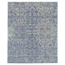mila modern blue pacific wool rug 2