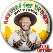 Amazon Com Latinos For Trump 2020 Campaign 6 Button Rally Pack 2 25 Inch Large Pinbacks Pancho Villa Spanish Hispanic Badges Republican Gop Handmade