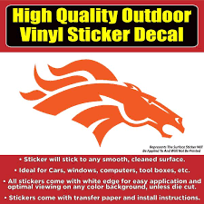 Denver Broncos Solid Orange Design Car Window Vinyl Decal Sticker Colorado Sticker