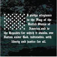 Pledge Of Allegiance Flag Car Window Decals Stickers Decal Junky
