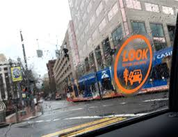 City Now Issues Anti Dooring Window Decals To Taxi Uber And Lyft Operators Bikeportland Org