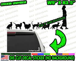 Crazy Cat Lady Cats Follow Woman Car Window Die Cut Decal Etsy