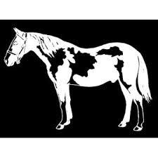 Oracal Pinto Horse Decal Equestrian Trailer Car Truck Window Vinyl Sticker Graphic