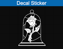 Beauty And The Beast Rose Decal On Storenvy