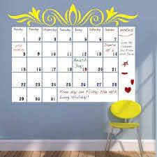 Dry Erase Calendar Wall Decal Trendy Wall Designs