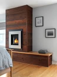 a gas fireplace and built in combo
