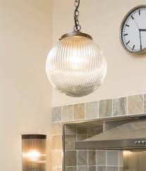 reeded glass globe pendant clear or