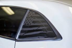 Distressed Flag Quarter Window Decal Set 2010 2015 Chevy Camaro Premium Auto Styling