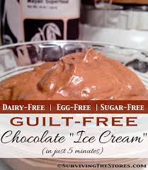 guilt free chocolate ice cream recipe