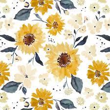 sunflower baby bedding bright yellow