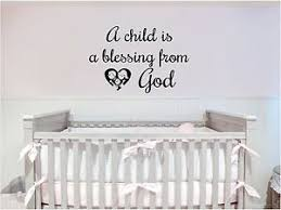 A Child Is A Blessing From God Wall Decal Nursery Sticker Family Wall Decor Ebay