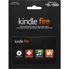 kindle fire gift card 15 500 gift