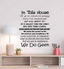 Family Quotes Wall Decal In This House We Belive Magic We Do Geek Vinyl Wall Art Sticker Decal Quote Films Hd276 Wall Stickers Aliexpress