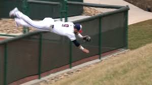Tsn On Twitter Must See College Baseball Right Fielder Flips Over Fence After Making Catch Watch Https T Co Qehp3wakwn