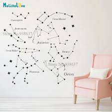 Constellations Decal Living Room Nursey Baby Room Decoration Vinyl Wall Home Decor Removable Vinyl Wall Stickers B906 Wall Stickers Aliexpress