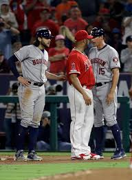 Noe Ramirez, the pitcher of Los Angeles Angels suspended by MLB ...