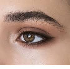 natural makeup for green eyes cat eye