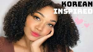 black tries korean style makeup