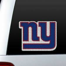 New York Giants Ny Large Logo Perforated Auto Window Decal Film Cling Car Truck Ebay