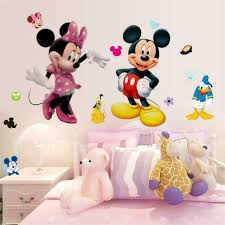 Sweet Mickey Mouse Minnie Vinyl Wall Sticker Decals Kids Nursery Room Decoration For Sale Online