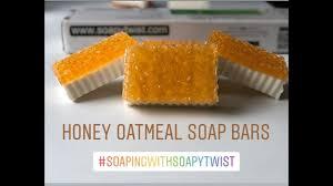diy honey oatmeal soap bars homemade