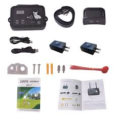 Okpet Wireless Electric Dog Fence System Outdoor Invisible Dog Fence Containment Systemvibration And Static Shock Dog Collar F Dog Fence Container Static Shock
