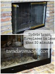 update your brass fireplace without