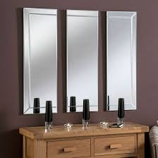 uk made all glass 3 panel wall mirror